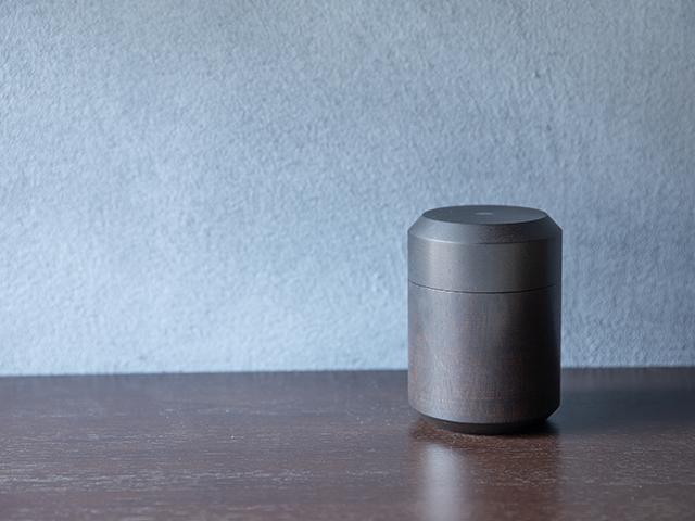 茶筒 ‐漆黒‐